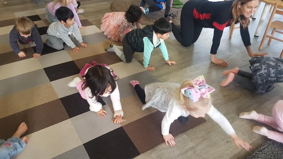 child care Narre Warren play - Yoga Day at Apple Blossoms Narre Warren